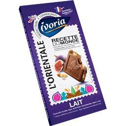 Ivoria Chocolat au lait L'Orientale figues amandes, saveur ... la tablette de 180 g
