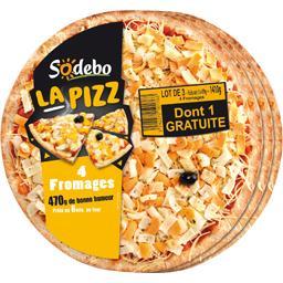 Sodebo La Pizz 4 fromages les 3 pizzas de 470 g