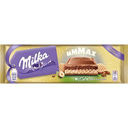 Milka Mmax - Chocolat au lait Nussini choco gaufrette la tablette de 300 g