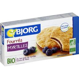 Biscuits fourrés myrtille BIO
