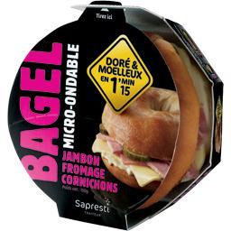 Bagel jambon fromage cornichons micro ondable