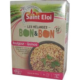 Saint Eloi Les Mélanges boulgour quinoa Bon & Bon les 2 sachets de 200 g