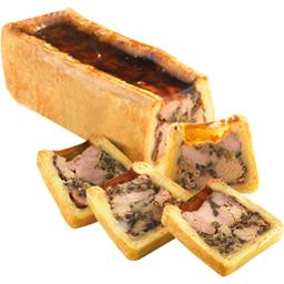 Pâté en croûte au foie gras et champignons