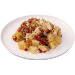 Pomme de terre légumes et cabillaud sauce vierge