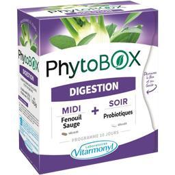 Laboratoire Vitarmonyl Complément alimentaire PhytoBox Digestion la boite de 40 gélules - 14,5 g