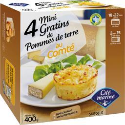 Cité Marine Mini gratins de pommes de terre au comté la boite de 4 - 400 g
