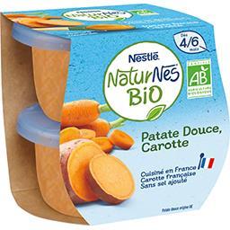 Patate douce carotte BIO, dès 4/6 mois
