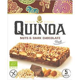 Barre chocolatée quinoa noisettes BIO