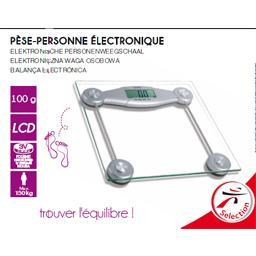 Pèse-personne électronique verre
