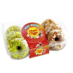 Mini donut - Assortiment de goûts lait-fraise, pomme, cola - x9