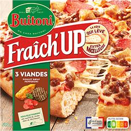 Fraîch'Up - Pizza 3 viandes poulet bœuf pepperoni