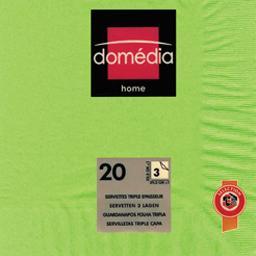 Home - Serviettes unies 3 épaisseurs vert 39,5x39,5 ...