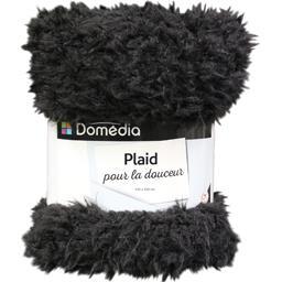 Plaid 130x150 cm sherpa noir