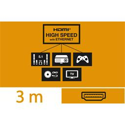 Câble HDMI haute vitesse avec Ethernet mâle/mâle, 3 m