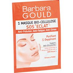 Barbara Gould Masque BIO cellulose SOS Eclat Purifiant & Oxygénant le masque de 8 ml