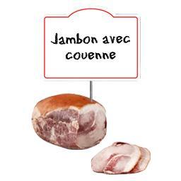 Jambon cuit avec couenne Le Mignon