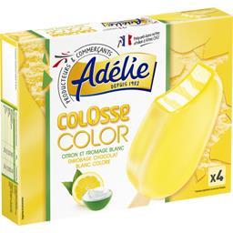 Adélie Colosse Color - Bâtonnets citron et fromage blanc les 4 bâtonnets de 80 ml
