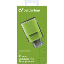 Chargeur secteur USB 1A vert