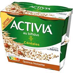 Danone Danone Activia - Spécialité laitière quinoa noisette