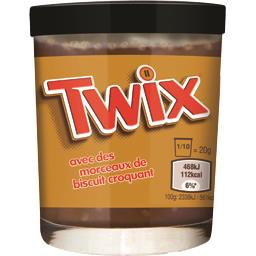 Twix Pâte à tartiner cacao goût caramel et morceaux de bi...