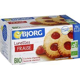 Sablés Lunettes fraise BIO