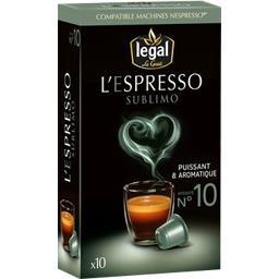Capsules de café moulu L'Espresso Sublimo