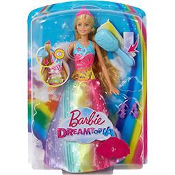 Poupée Princesse arc-en-ciel sons et lumières