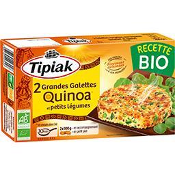 Grandes galettes quinoa et petits légumes BIO