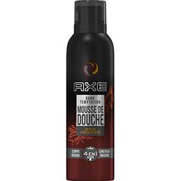 Axe Mousse de douche parfum chocolat noir le flacon de 200 ml