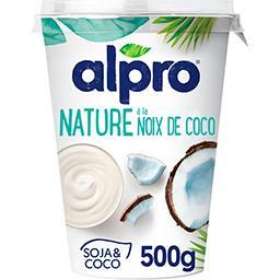 Dessert végétal soja nature à la noix de coco