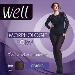 Morphologie - Collant opaque Form noir T -1m65