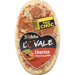 Sodebo L'Ovale - Pizza Chorizo poivrons grillés la pizza de 200 g