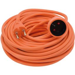 Prolongateur électrique 2x1,5mm 20m 16A, orange