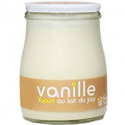 Sélectionné par votre magasin Yaourt au lait du jour vanille le pot de 180 g