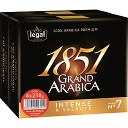 Legal 1851 Grand Arabica - Café moulu intensité N°7 le lot de 4 paquets de 250 g