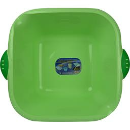 Cuvette carrée 5l coloris vert anis