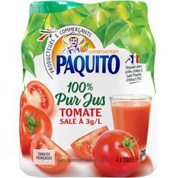 Jus de tomate salé à 3 g/l 100% pur jus