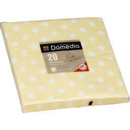 Serviettes 3 plis, pliage 1/4 33x33 cm, crème Dots