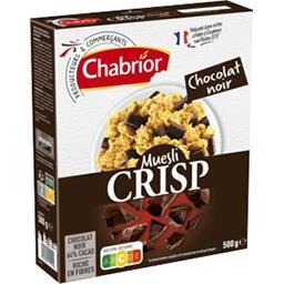 Céréales Muesli Crisp chocolat noir