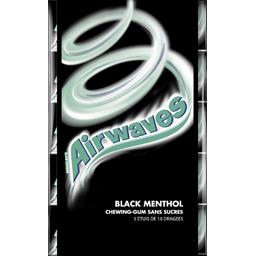 Airwaves Chewing-gums Black Menthol sans sucres