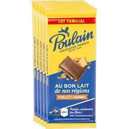 Chocolat au lait feuilleté caramel