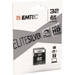 Carte mémoire SDHC 32GB Class4 Elite Silver