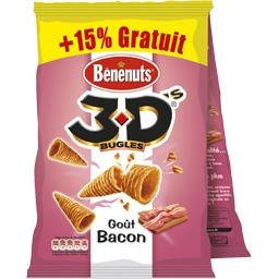 3D Bugles - Biscuits goût bacon