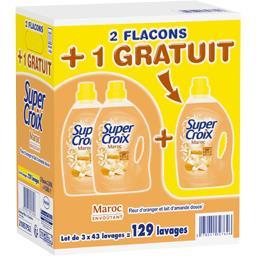 Super Croix Lessive liquide Maroc les 2 flacons de 3,01 l