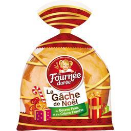 La Gâche de Noël au beurre frais et à la crème fraîc...