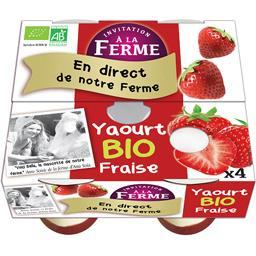 Yaourt fraise BIO et local