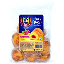 Le Glazik Gâteaux Petits Glazik pur beurre cœur de framboise les 8 gâteaux de 38 g