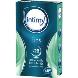 Fins - Préservatifs fins lubrifiés
