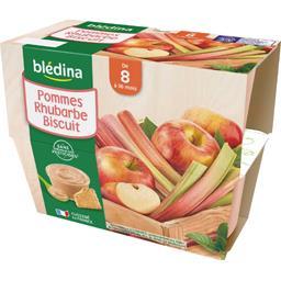Desserts pommes rhubarbes biscuit, de 8 mois à 36 mo...