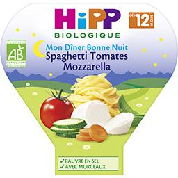 Mon Dîner Bonne Nuit - Plat spaghetti tomates mozzar...